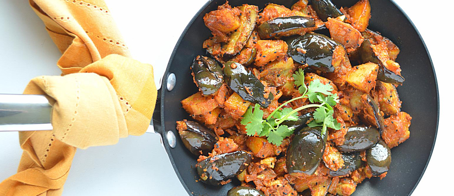 Aachari wale aloo baingan recipes-image
